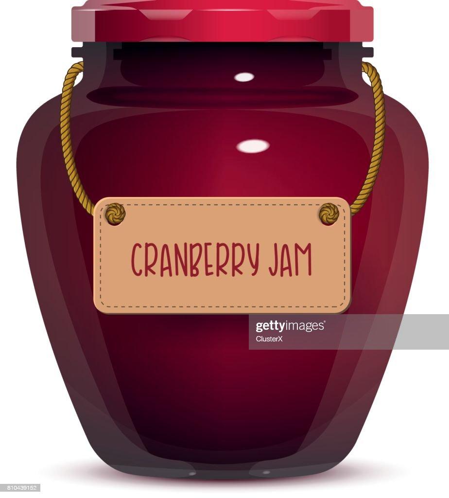 Glass Jam Jar on White Background