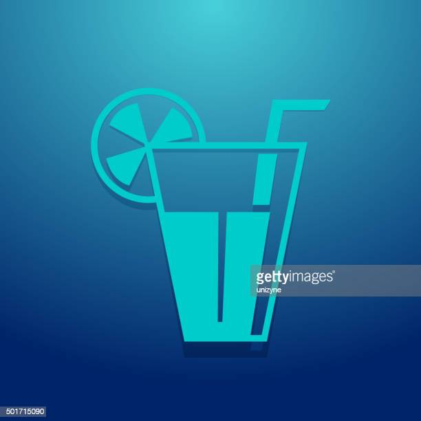 glass of juice icon - juice drink stock illustrations, clip art, cartoons, & icons