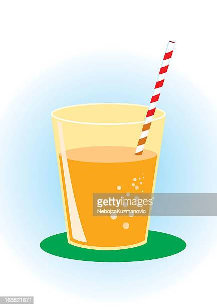 glass of orange juice - juice drink stock illustrations, clip art, cartoons, & icons