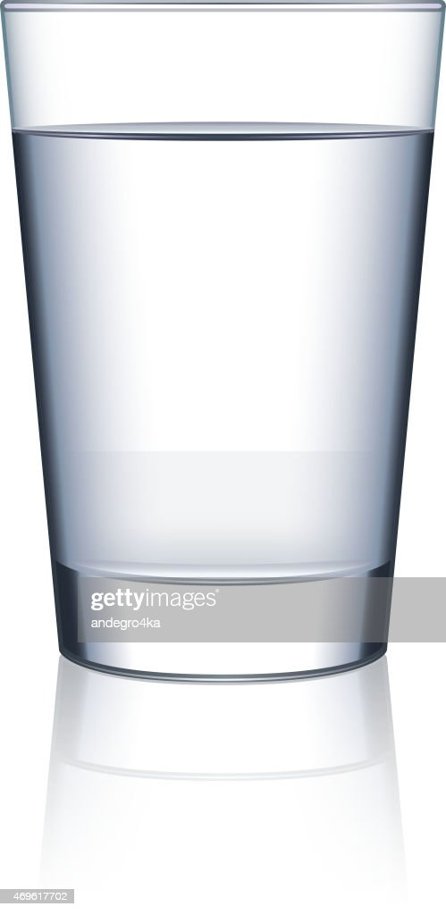 Glass of water isolated on white vector