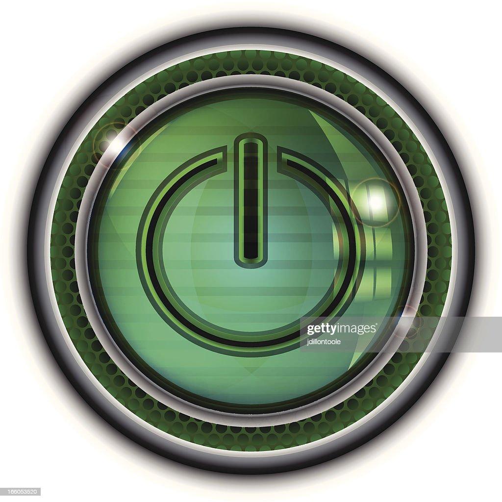 Glass Power Button