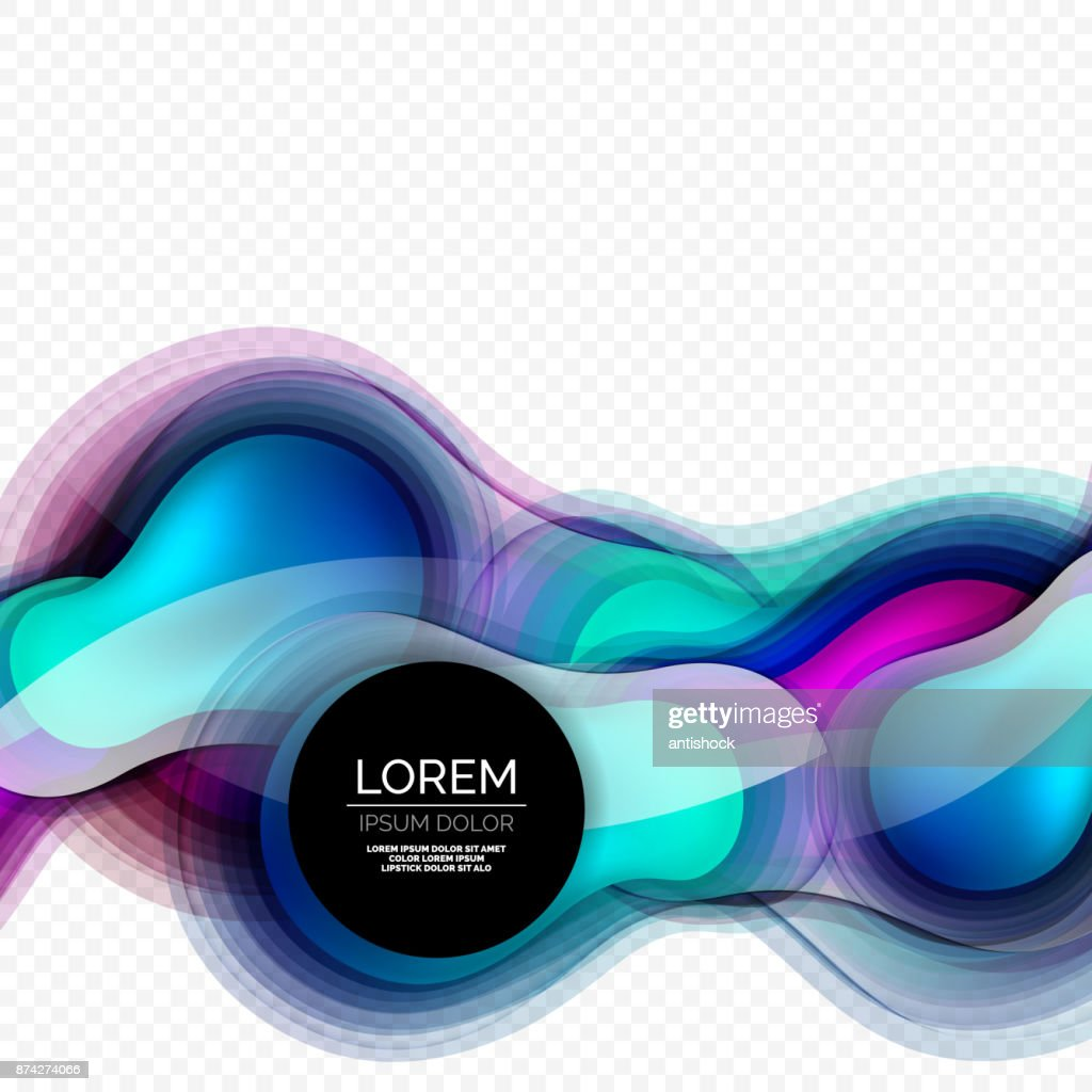 Glass round shape modern design template, abstract background
