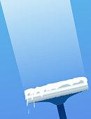 Glass scraper for washing window. Window cleaning.