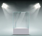 Glass showcase for sales