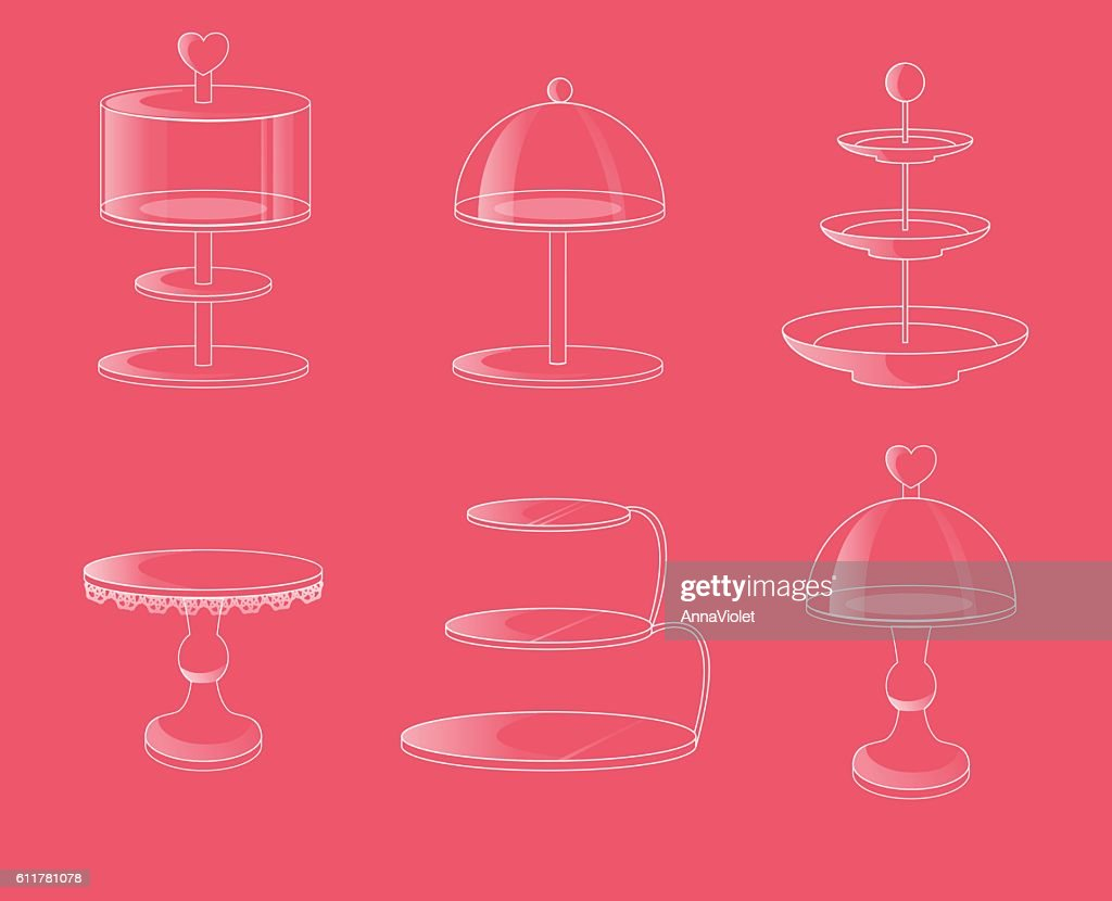 Glass stands for cakes and desserts.