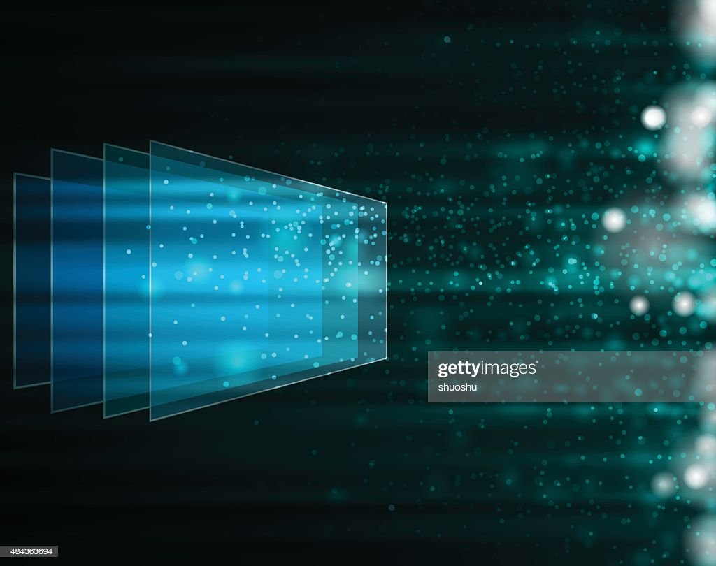 glass style technology background