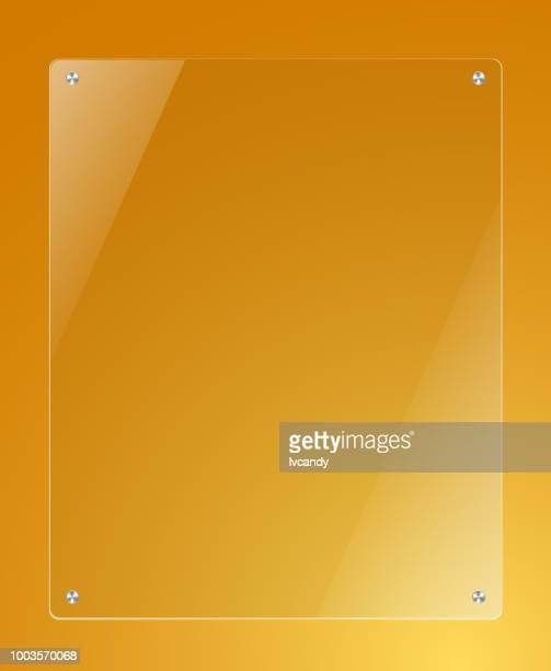 ガラス テンプレート ボード - アクリル板点のイラスト素材/クリップアート素材/マンガ素材/アイコン素材