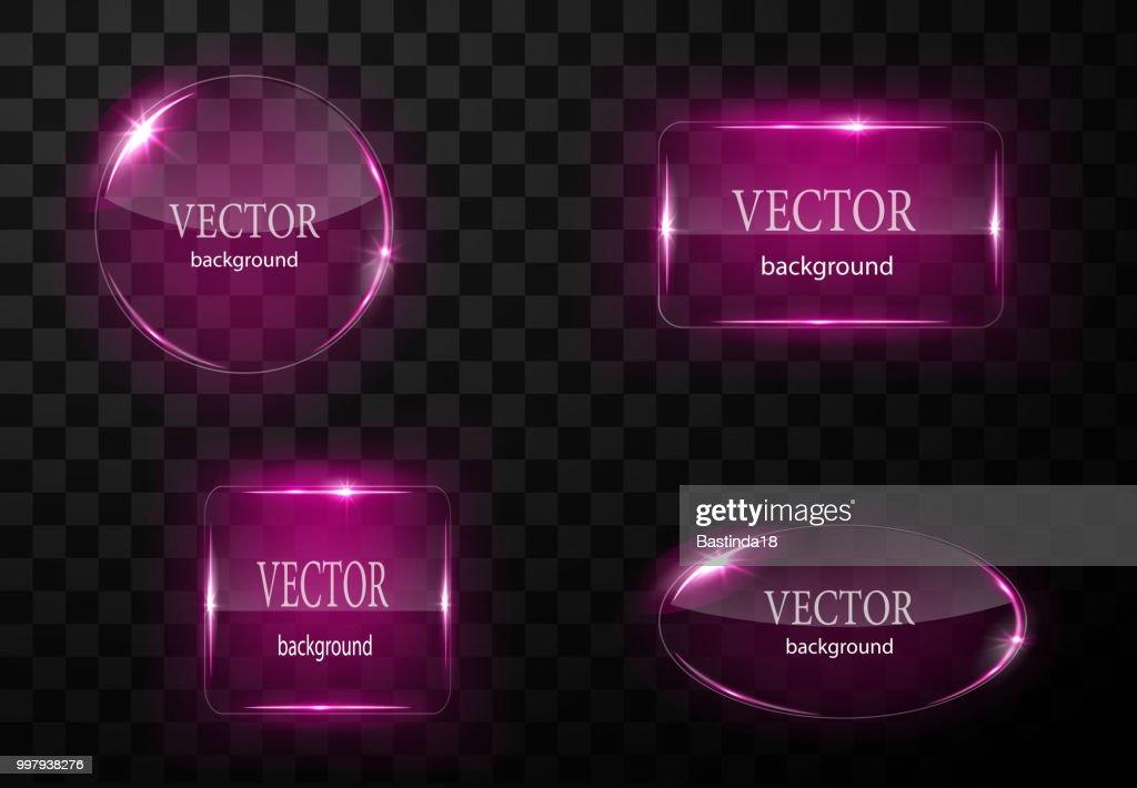 Glass vector button plane. Easy editable background