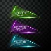 Glass vector button plane. Easy editable background