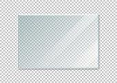 glass windowisolated on white background. Vector illustration.