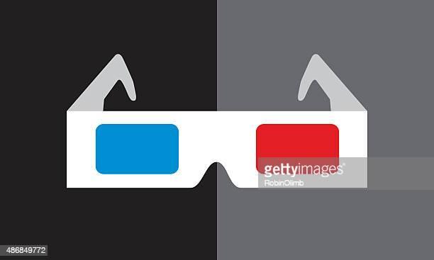 Óculos 3D ícone