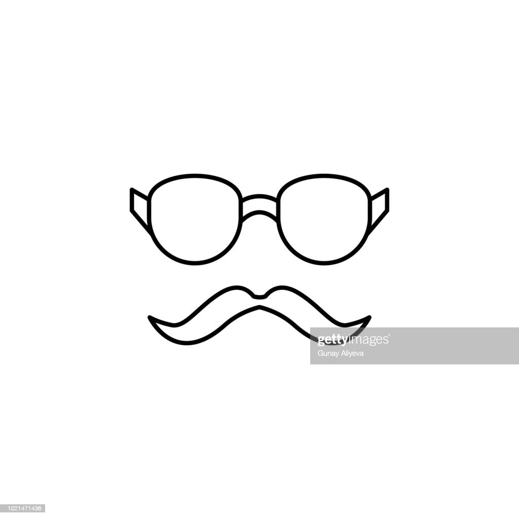 glasses and mustaches icon. Element of simple icon for websites, web design, mobile app, info graphics. Thin line icon for website design and development, app development
