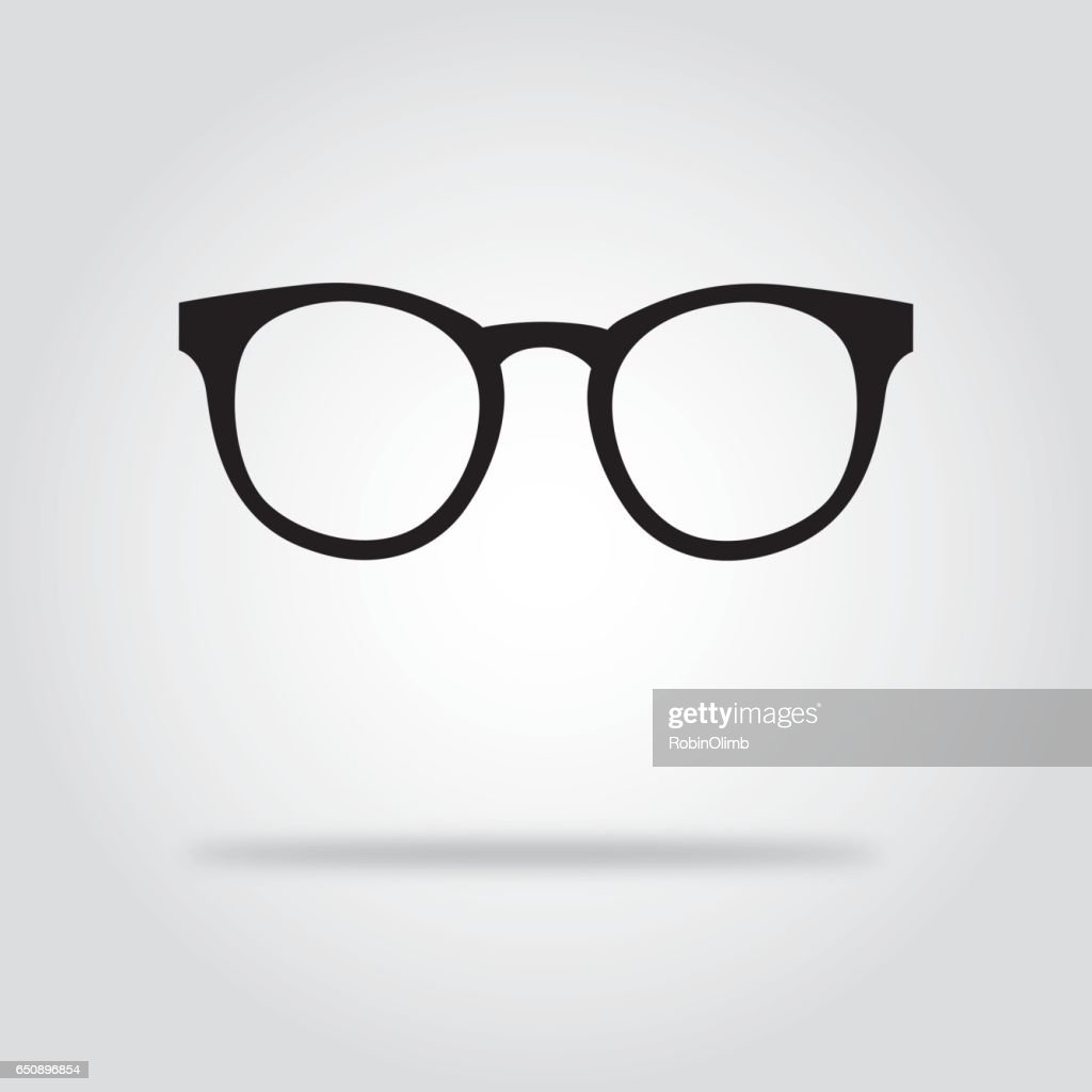 Glasses Black And White Icons : stock illustration