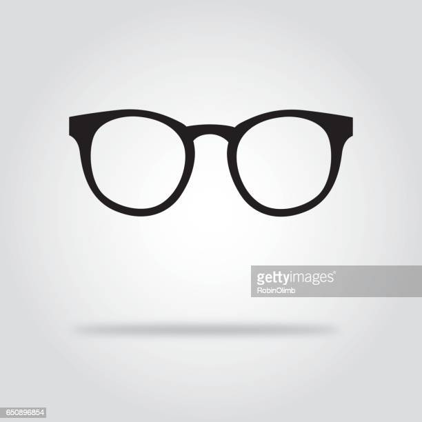 Glasses Black And White Icons