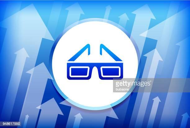 3D Glasses Blue Up Arrows Background