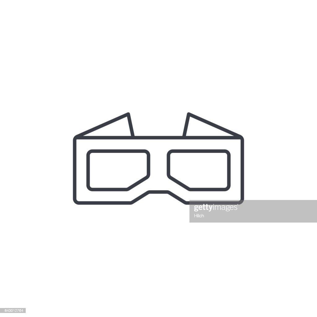 Glasses For Movie Thin Line Icon Linear Vector Symbol Vector Art