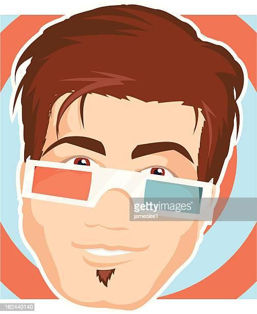 Óculos de 3D Guy