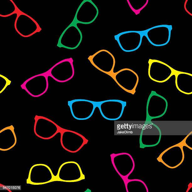 Glasses Pattern Colorful