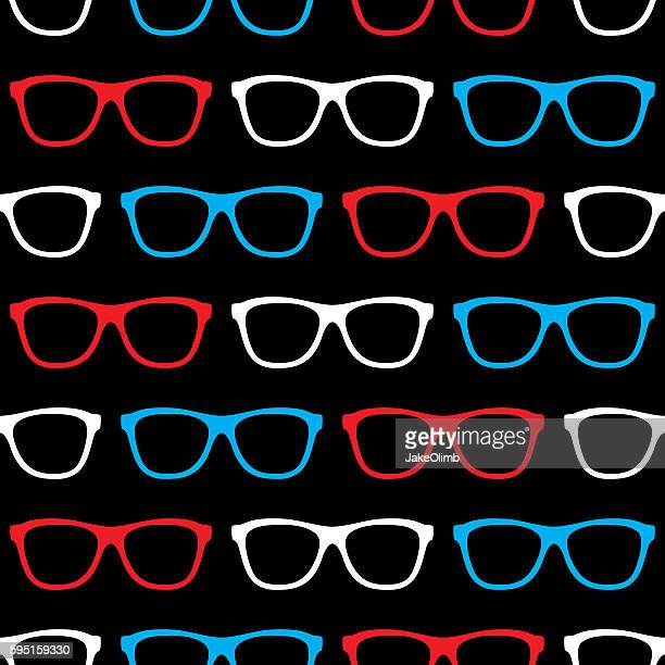 Glasses Pattern Patriotic Straight