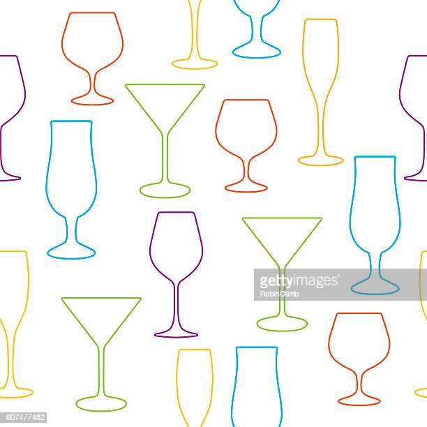 glasses seamless pattern - margarita stock illustrations, clip art, cartoons, & icons