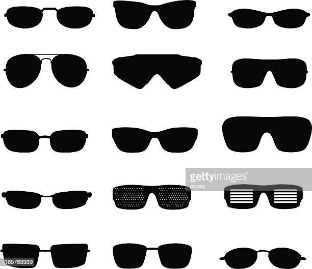 glasses silhouette - sunglasses stock illustrations