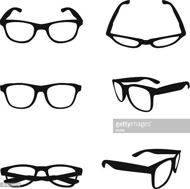 glasses silhouette - drinking glass stock illustrations