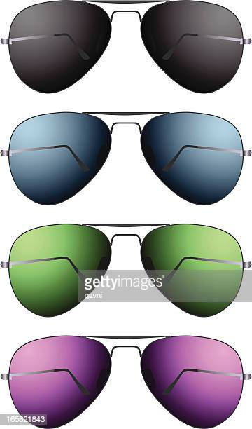 眼鏡 - パイロットサングラス点のイラスト素材/クリップアート素材/マンガ素材/アイコン素材