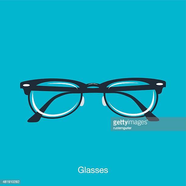 illustrazioni stock, clip art, cartoni animati e icone di tendenza di gli occhiali - occhiali da vista