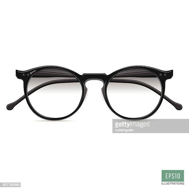 60点の読書用メガネのイラスト素材クリップアート素材マンガ素材
