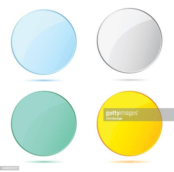 眼鏡  - アクリル点のイラスト素材/クリップアート素材/マンガ素材/アイコン素材