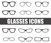 glasses vector set
