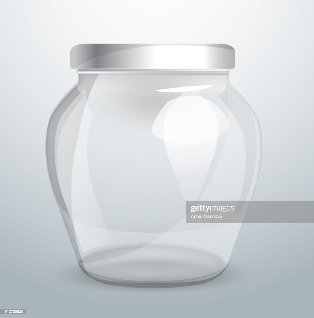 Glassware for dairy products. Packaging design with a place for an inscription. Vector object. Vector illustrations. Template