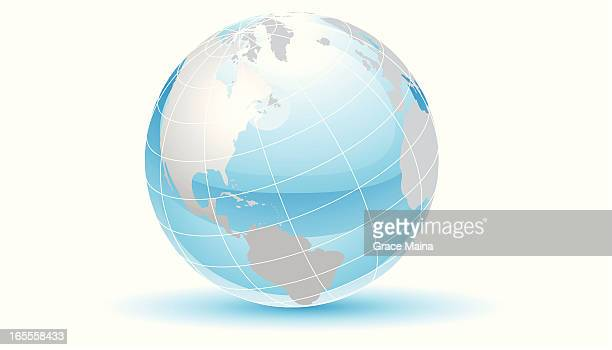 Glassy earth with grids - VECTOR