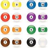 Glassy Icon Billiard Balls