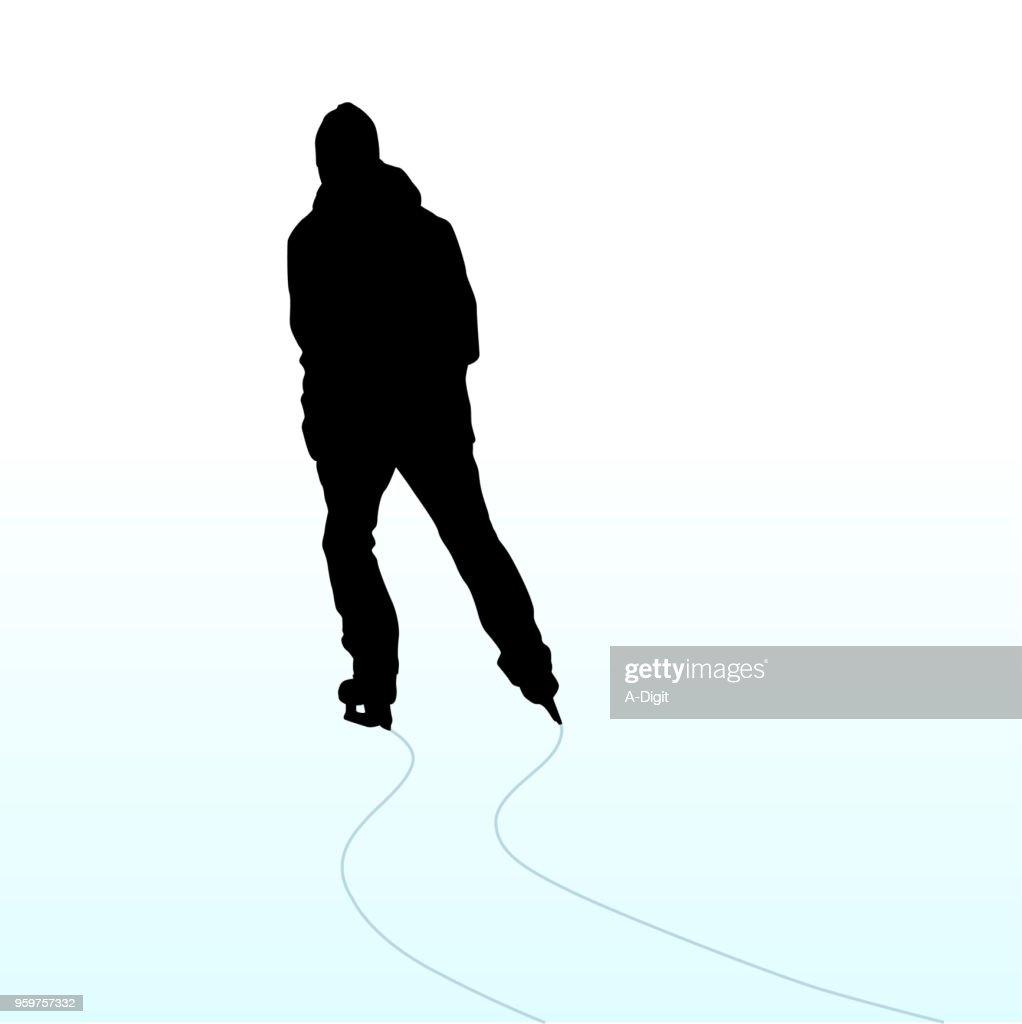 Gleiten Sie auf Schlittschuhen : Stock-Illustration