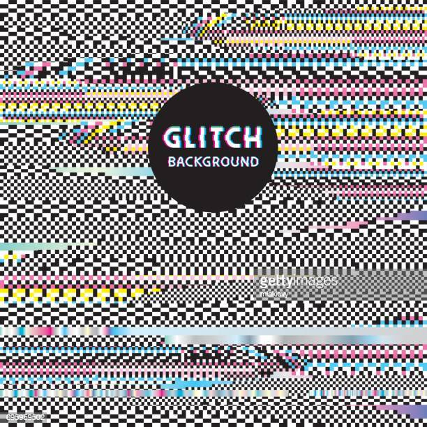 glitch background - broken stock illustrations, clip art, cartoons, & icons
