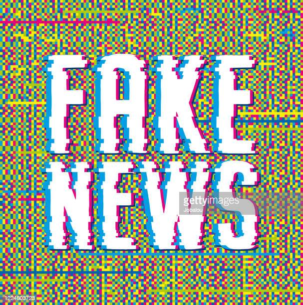 illustrations, cliparts, dessins animés et icônes de glitch fake news contexte - fake news