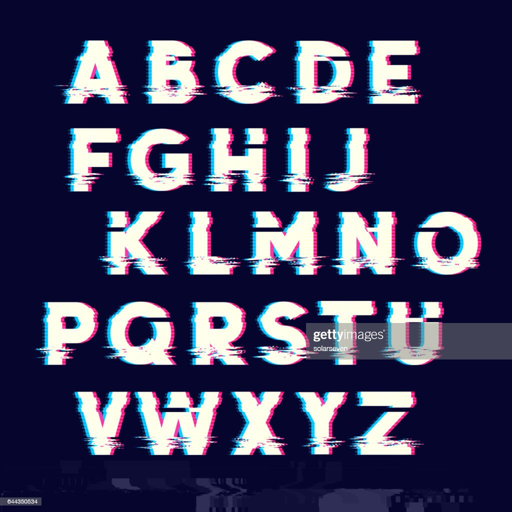 Glitch Letters