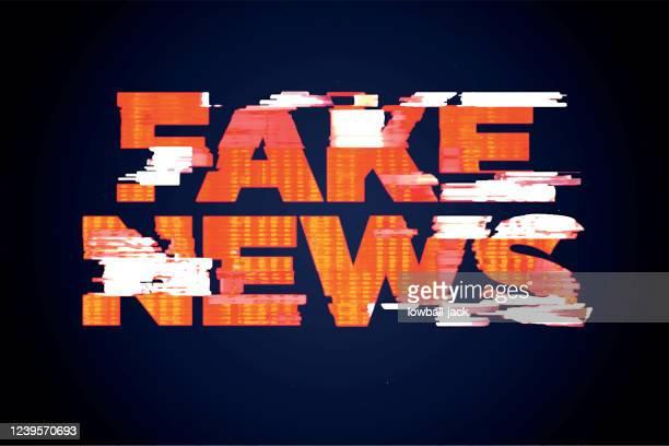 ilustrações, clipart, desenhos animados e ícones de uma ilustração de notícias falsas. notícias de lixo, desinformação representando a interrupção econômica causada pela ilustração de estoque de pandemia do vírus corona - fake news