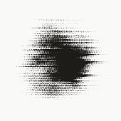 Glitched halftone stain