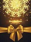 Glitter card design for greeting or invitation.