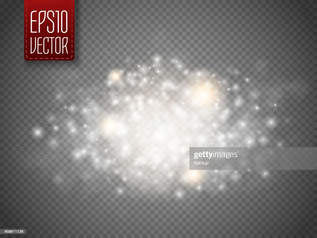 Glitter glow special light effect. Sparkling dust particles. Vector illustration