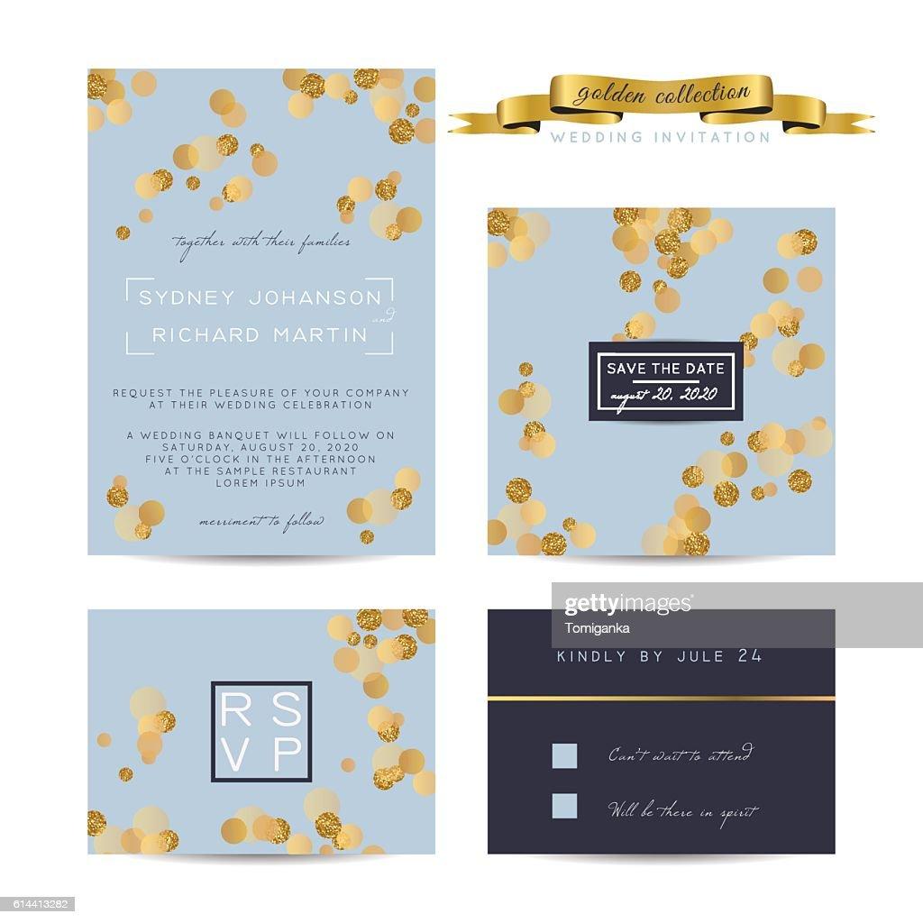 glitter invitation