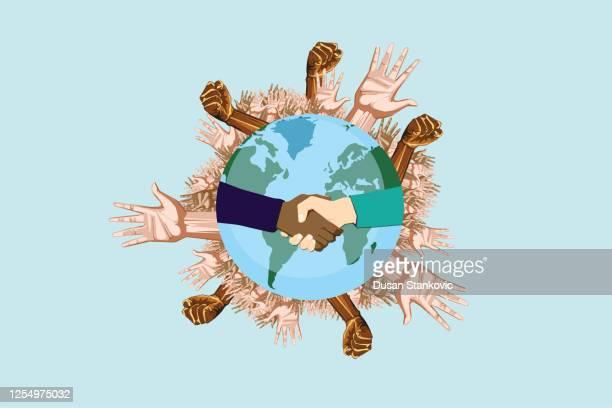 global awareness against racism - racism stock illustrations