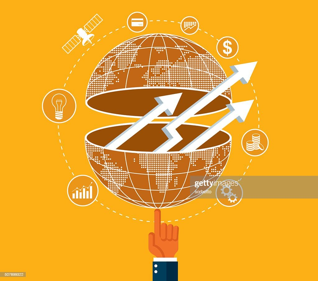 Global Business Communications : Vector Art