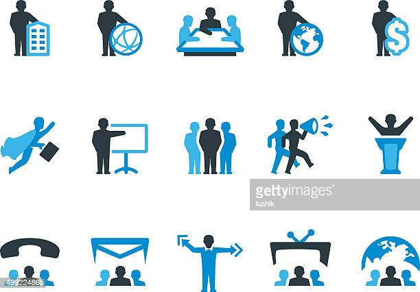 global business / coolico icons - corporate hierarchy stock illustrations, clip art, cartoons, & icons
