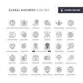 Global Business Editable Stroke Line Icons