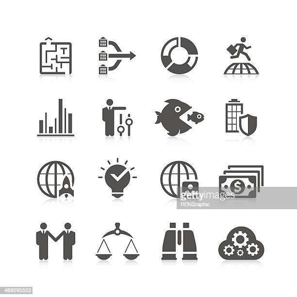global business icon set | unique series - animal scale stock illustrations, clip art, cartoons, & icons