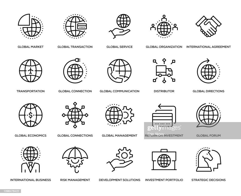 Global Business Icon Set : Illustration