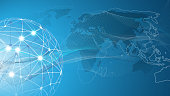 Global Business, Technology, Network Connections Concept